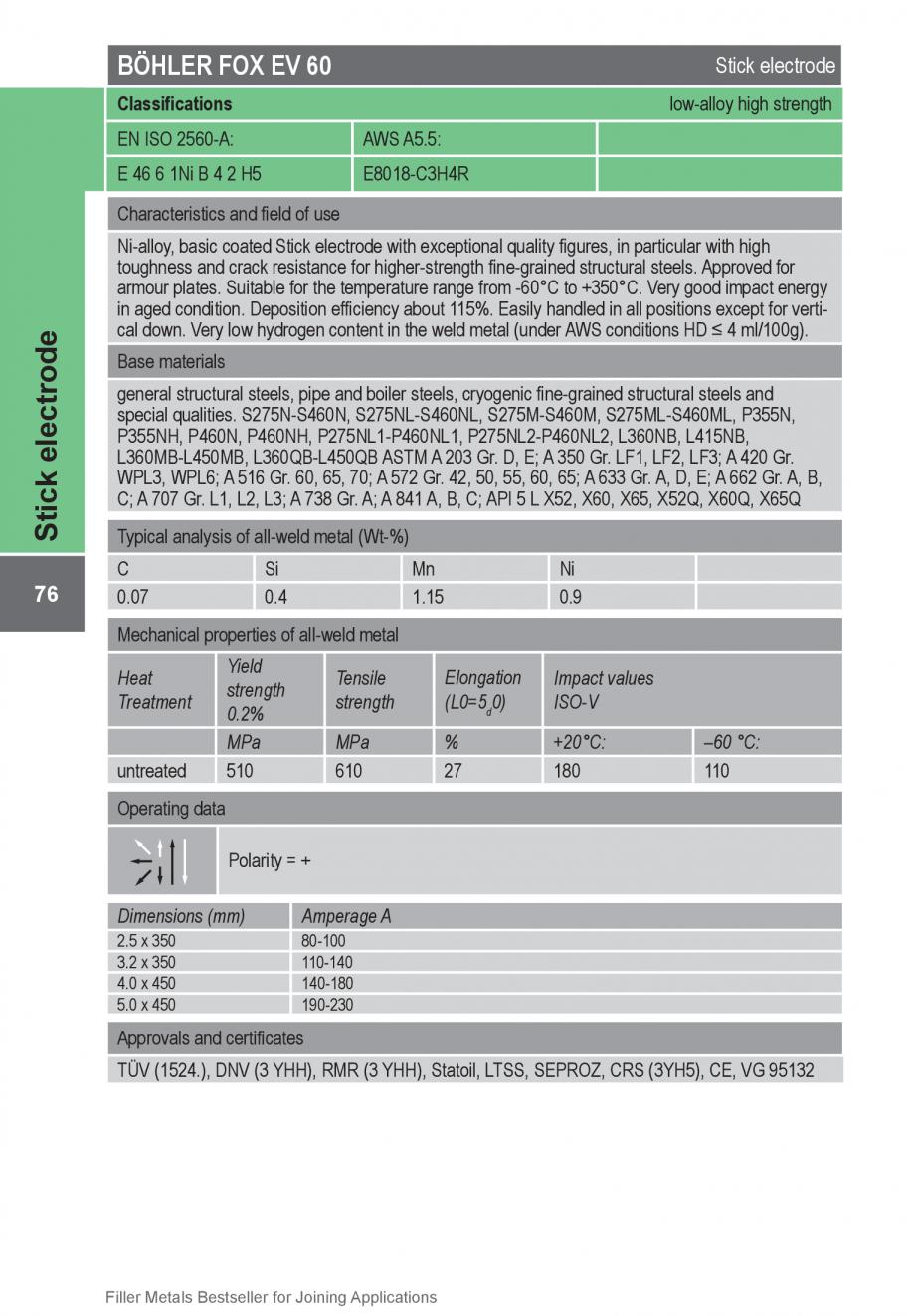 Pagina 76 - Solutii complete (materiale de adaos) pentru orice tip de aplicatie in sudare TEHNIC GAZ...