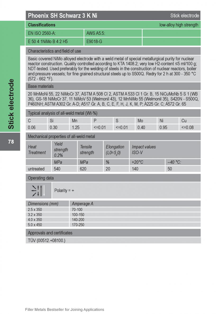 Pagina 78 - Solutii complete (materiale de adaos) pentru orice tip de aplicatie in sudare TEHNIC GAZ...