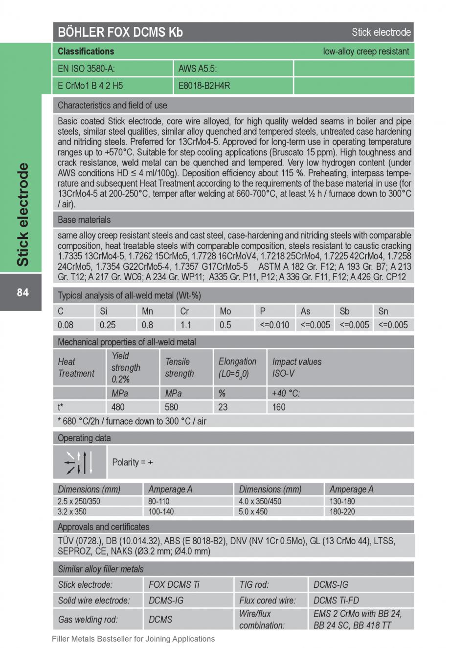 Pagina 84 - Solutii complete (materiale de adaos) pentru orice tip de aplicatie in sudare TEHNIC GAZ...