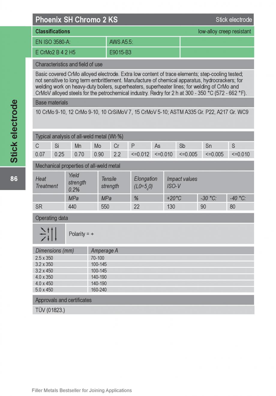 Pagina 86 - Solutii complete (materiale de adaos) pentru orice tip de aplicatie in sudare TEHNIC GAZ...