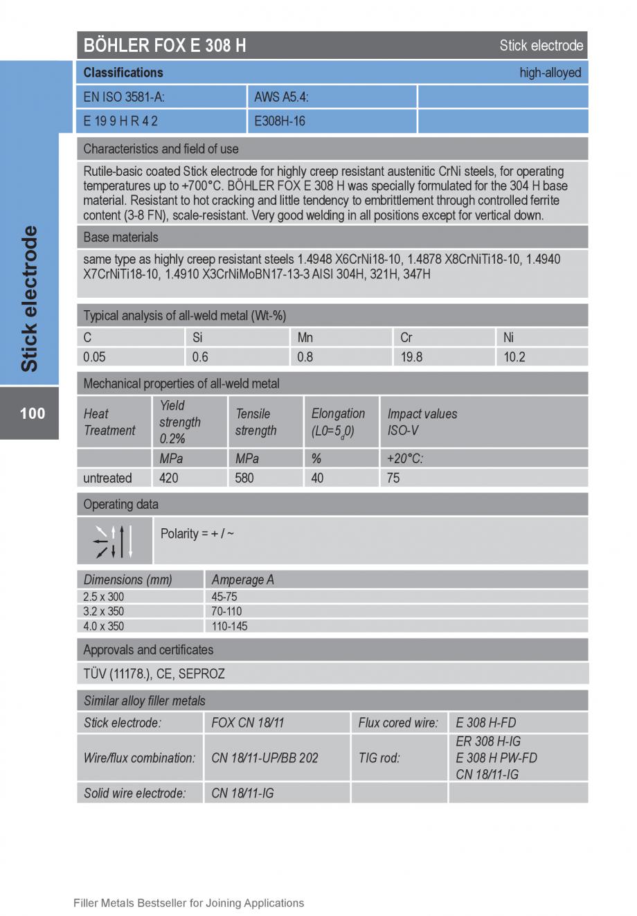 Pagina 100 - Solutii complete (materiale de adaos) pentru orice tip de aplicatie in sudare TEHNIC...