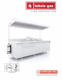 Instalatii automate pentru stingere incendii bucatarii, hote