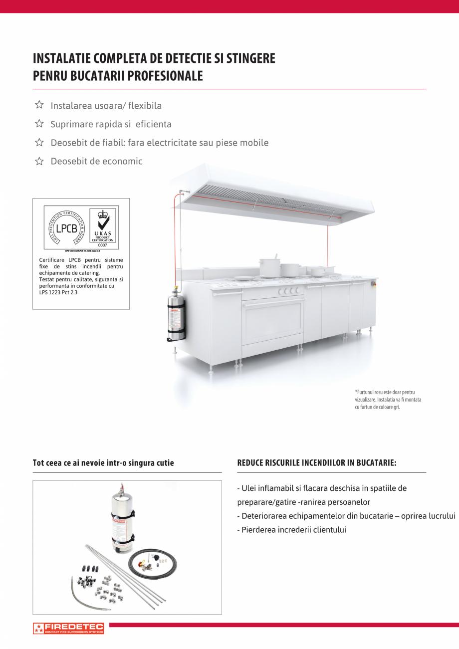 Pagina 2 - Instalatii automate pentru stingere incendii bucatarii, hote TEHNIC GAZ FIRE PROTECTION...
