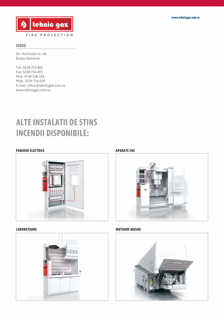 Pagina 4 - Instalatii automate pentru stingere incendii bucatarii, hote TEHNIC GAZ FIRE PROTECTION...