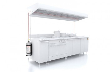 Instalatii automate pentru stingere incendii bucatarii, hote Sistemele FIREDETEC utilizeaza un tub cu senzor linear continuu care detecteaza caldura si activeaza eliberarea unui agent de stingere folosind tehnologia pneumatica.