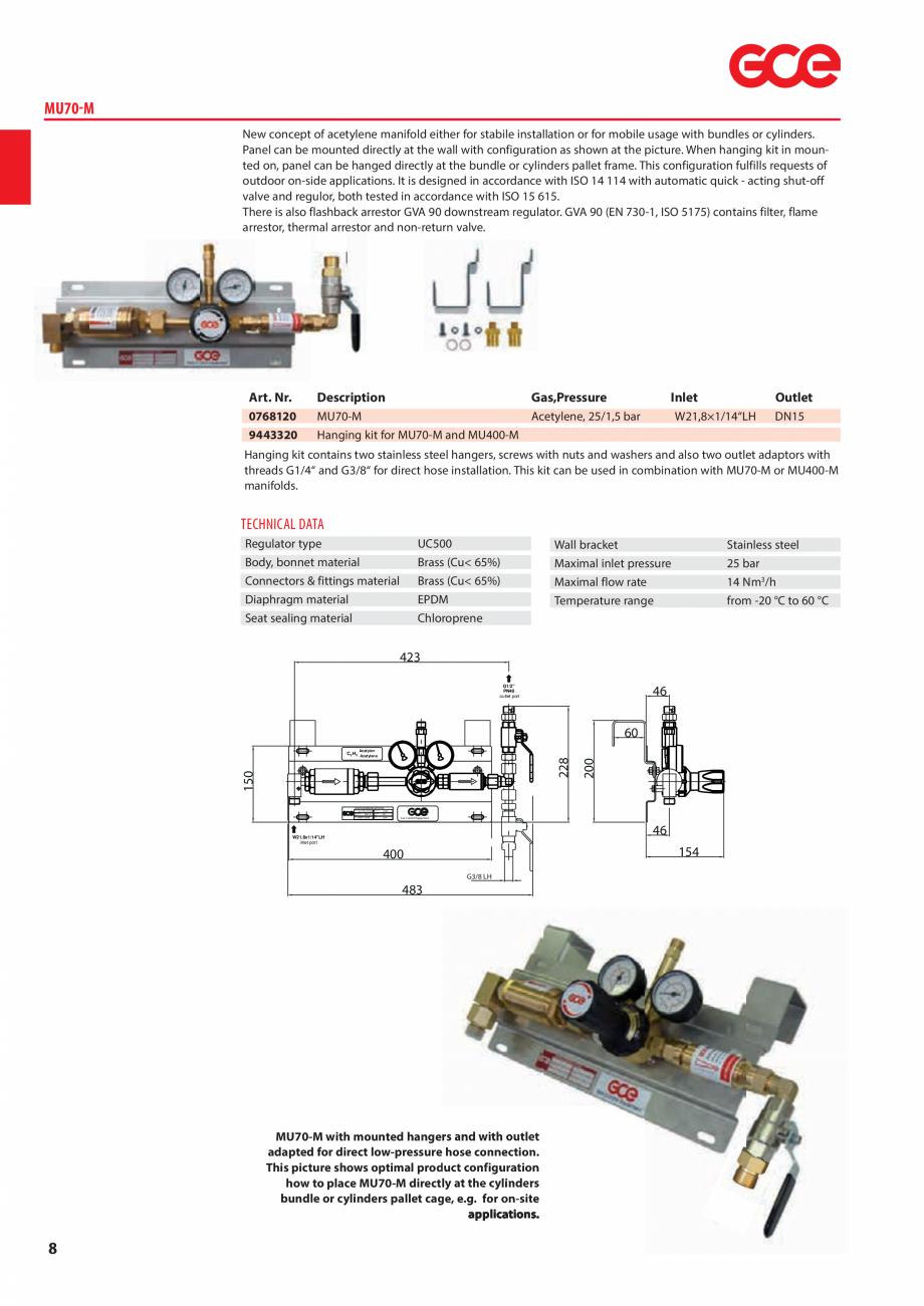 Pagina 10 - Sisteme centralizate de alimentare cu gaz - Reductoare de presiune TEHNIC GAZ GAS...