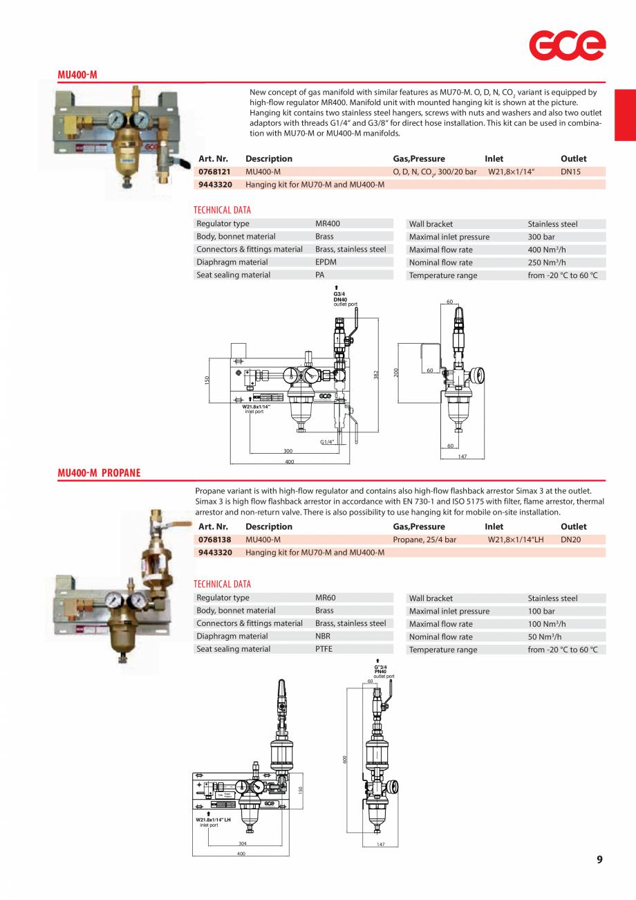 Pagina 11 - Sisteme centralizate de alimentare cu gaz - Reductoare de presiune TEHNIC GAZ GAS...
