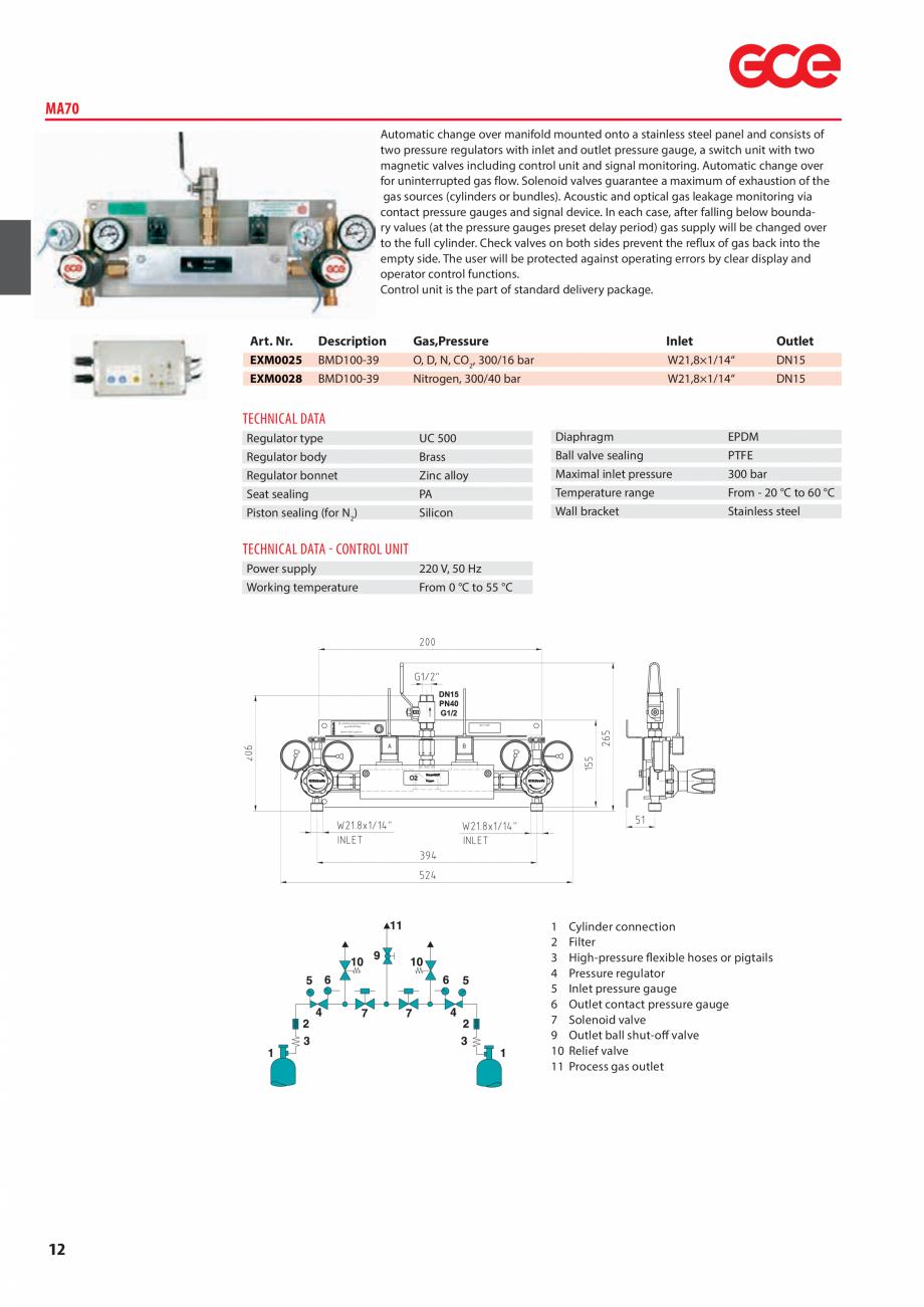 Pagina 14 - Sisteme centralizate de alimentare cu gaz - Reductoare de presiune TEHNIC GAZ GAS...
