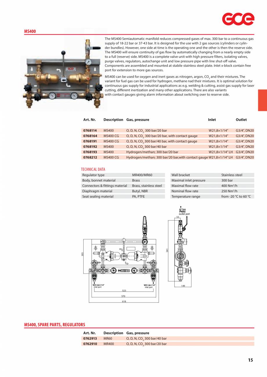 Pagina 17 - Sisteme centralizate de alimentare cu gaz - Reductoare de presiune TEHNIC GAZ GAS...