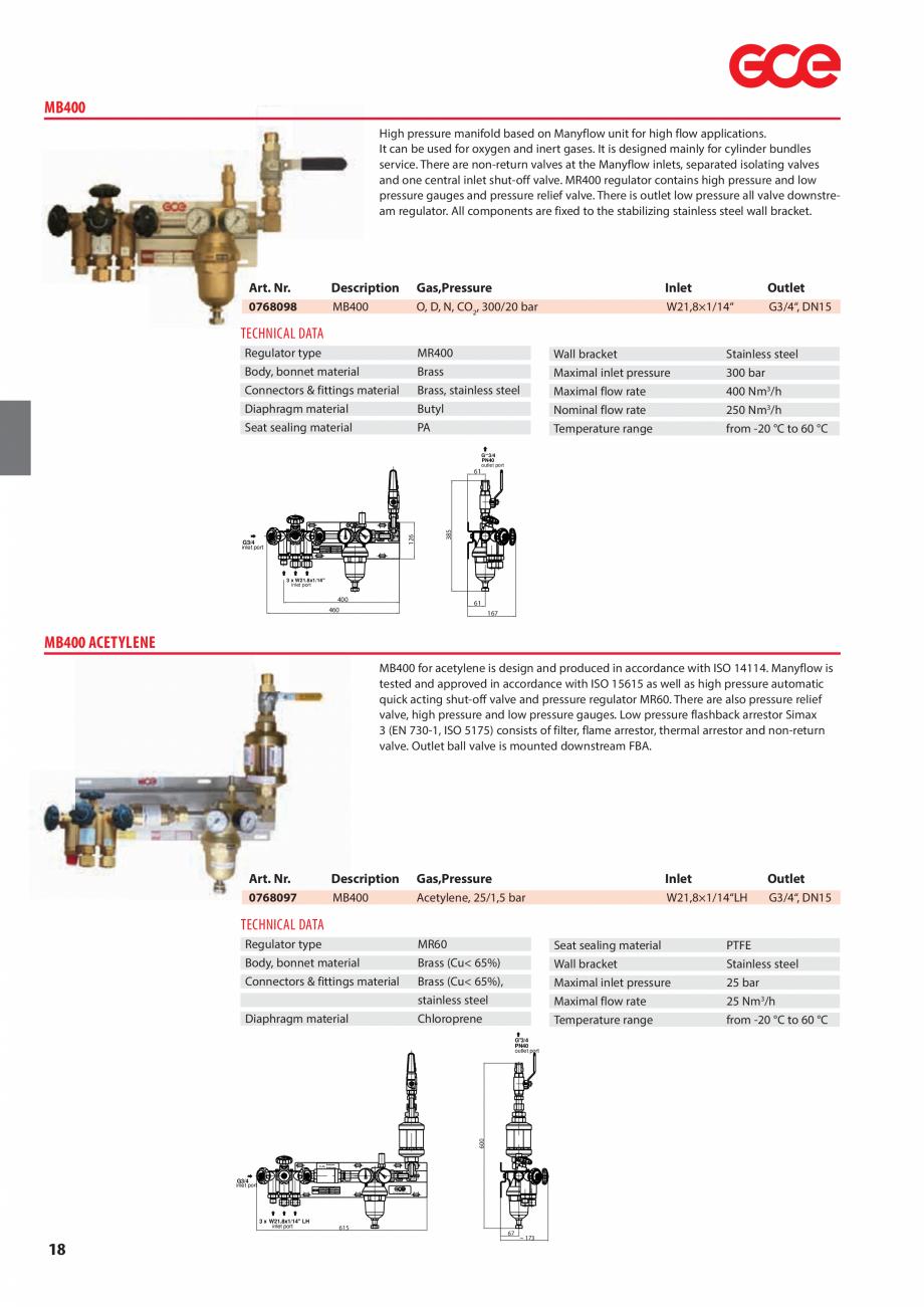 Pagina 20 - Sisteme centralizate de alimentare cu gaz - Reductoare de presiune TEHNIC GAZ GAS...