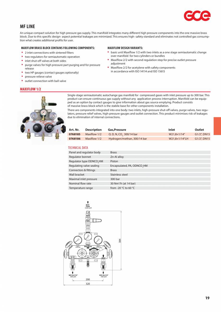 Pagina 21 - Sisteme centralizate de alimentare cu gaz - Reductoare de presiune TEHNIC GAZ GAS...
