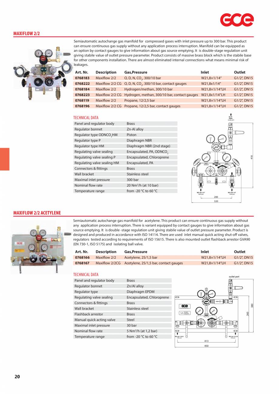 Pagina 22 - Sisteme centralizate de alimentare cu gaz - Reductoare de presiune TEHNIC GAZ GAS...