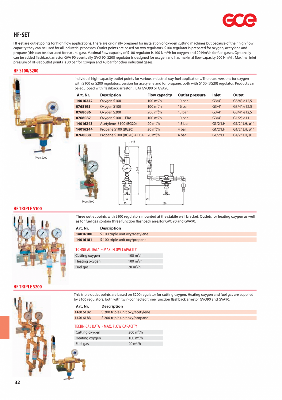 Pagina 34 - Sisteme centralizate de alimentare cu gaz - Reductoare de presiune TEHNIC GAZ GAS...