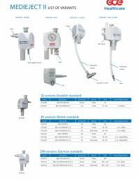 Lista de variante - Injectoare de vacuum