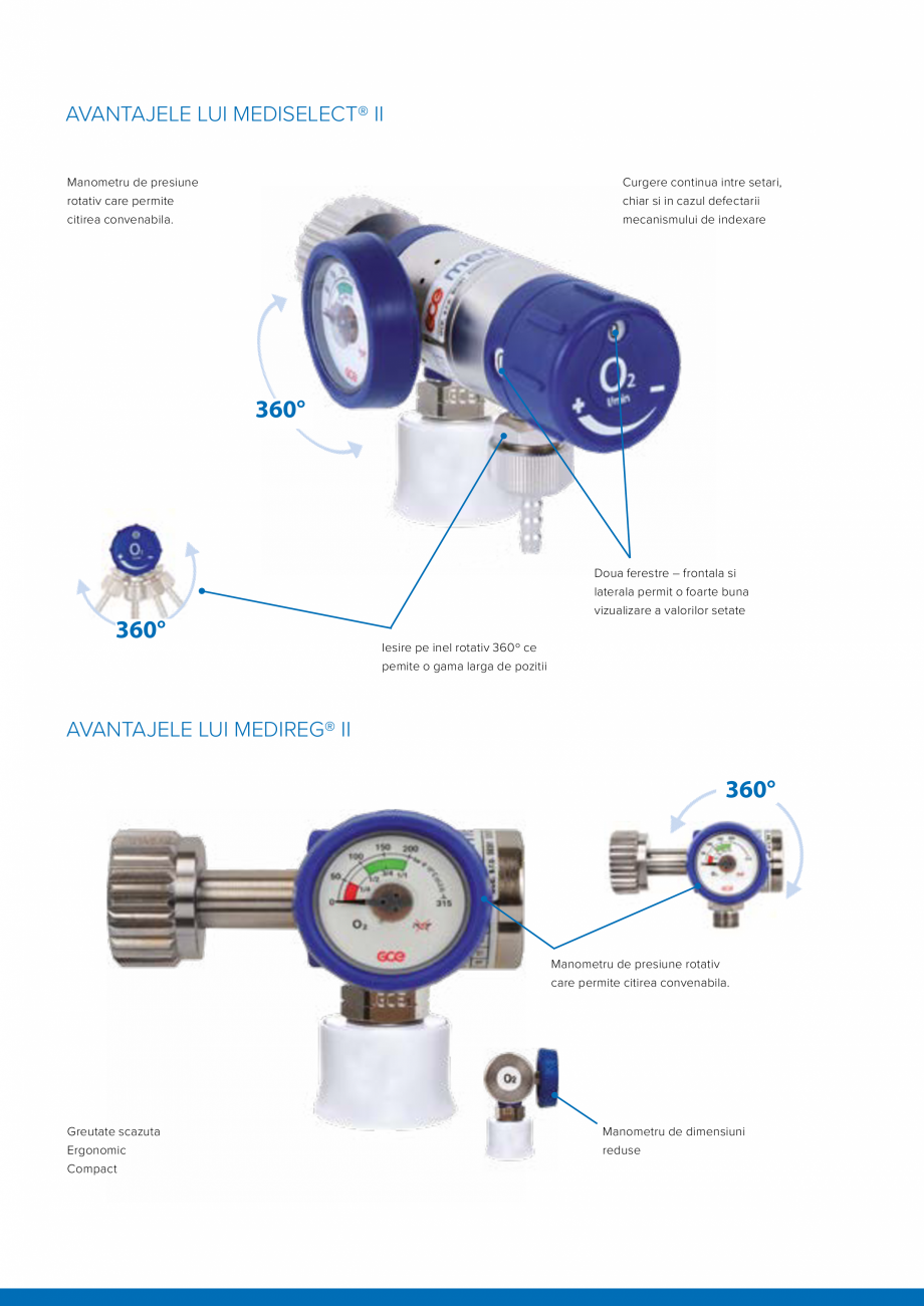 Pagina 2 - Regulatoare de presiune medicale TEHNIC GAZ GAS EQUIPMENT MEDIREG II, MEDISELECT II Fisa ...