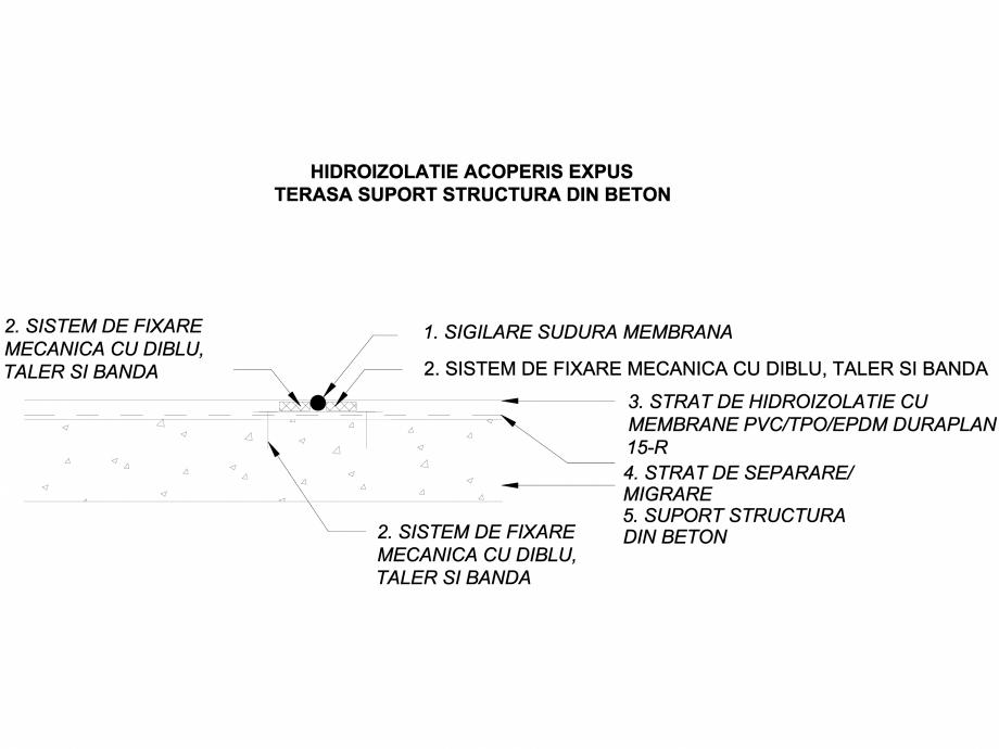 Pagina 1 - CAD-DWG Hidroizolatie acoperis terasa expus - Terasa suport  structura beton LGF Detaliu ...