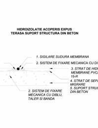 Hidroizolatie acoperis terasa expus - Terasa suport  structura beton
