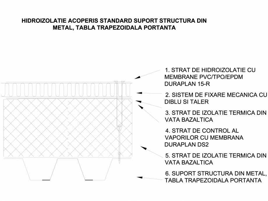 Pagina 1 - CAD-DWG Hidroizolatie acoperis expus terasa - Suport tabla portanta trapezoidala LGF...