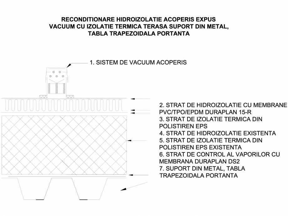 Pagina 1 - CAD-DWG Acoperis expus vacuum cu izolatie termica - Suport tabla portanta trapezoidala...