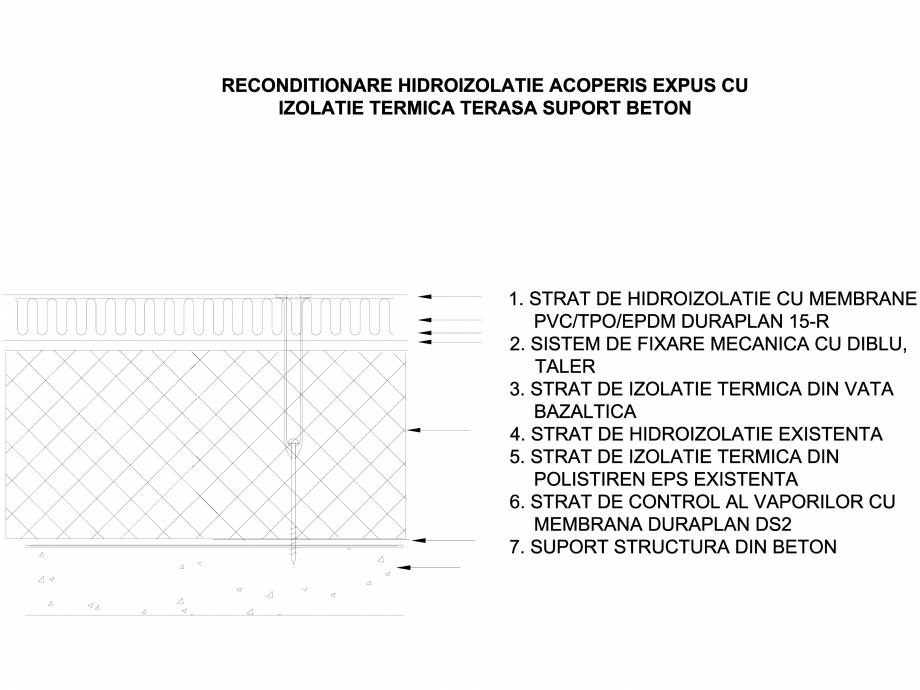 Pagina 1 - CAD-DWG Acoperis expus cu izolatie termica - Suport-beton LGF Detaliu de montaj...