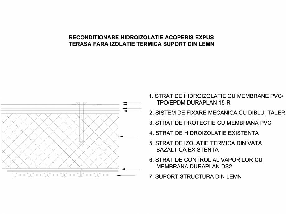Pagina 1 - CAD-DWG Acoperis expus fara izolatie termica - Suport lemn LGF Detaliu de montaj...