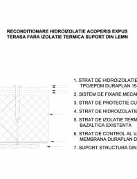 Acoperis expus fara izolatie termica - Suport lemn