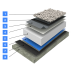 Hidroizolatii acoperis terasa circulabila sistem lestat cu balast dublu Hidroizolatii acoperis balastat
