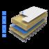 Hidroizolatie acoperis cool (rece) standard terasa suport din metal, tabla trapezoidala portanta Hidroizolatie acoperis cool (rece)