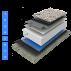 Reconditionare hidroizolatie terasa circulabila sistem lestat cu balast Reconditionare terase, acoperis expus