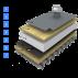 Reconditionare hidroizolatie acoperis expus sandwitch vacuum suport din metal, tabla trapezoidala portanta Reconditionare terase, acoperis expus