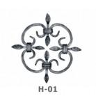 Ornament central din fier forjat H-01 - Ornamente din fier forjat