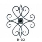 Ornament central din fier forjat H-02 - Ornamente din fier forjat