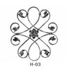 Ornament central din fier forjat H-03 - Ornamente din fier forjat