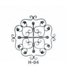 Ornament central din fier forjat H-04 - Ornamente din fier forjat