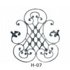 Ornament central din fier forjat H-07 - Ornamente din fier forjat