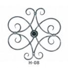 Ornament central din fier forjat H-08 - Ornamente din fier forjat