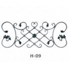 Ornament central din fier forjat H-09 - Ornamente din fier forjat
