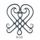 Ornament central din fier forjat H-12 - Ornamente din fier forjat