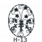 Ornament central din fier forjat H-13 - Ornamente din fier forjat