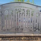 Panou gard tabla decupata 03 - Panouri si elemente din tabla decupata
