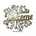 Ornament Welcome 3 - Elemente decorative din tabla decupata