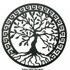 Panou ornamental arbore - Elemente decorative din tabla decupata