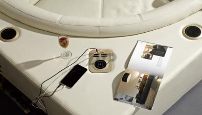 Coltare piele cu recliner - porturi USB incorporate AVANGARD Coltare piele cu recliner