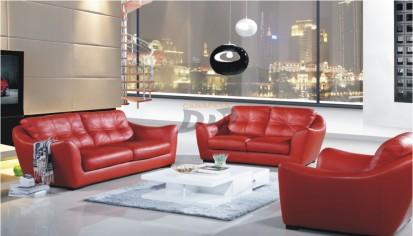 Canapele din piele pentru sufragerie - exemplu amenajare living CALIPSO Canapele din piele pentru sufragerie