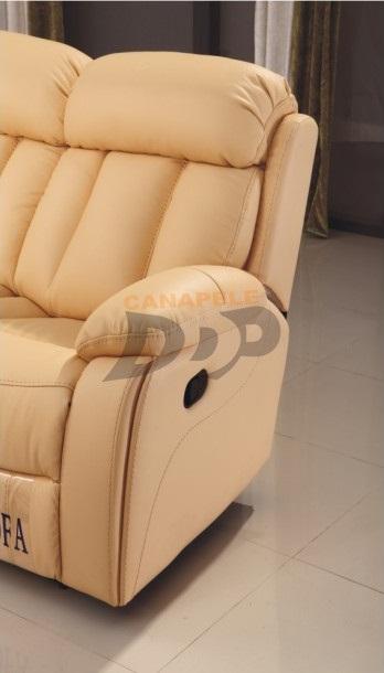 Canapele din piele cu recliner NANCY Canapele din piele cu recliner