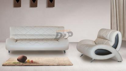 Canapele moderne din piele - alb OPAL Canapele moderne din piele