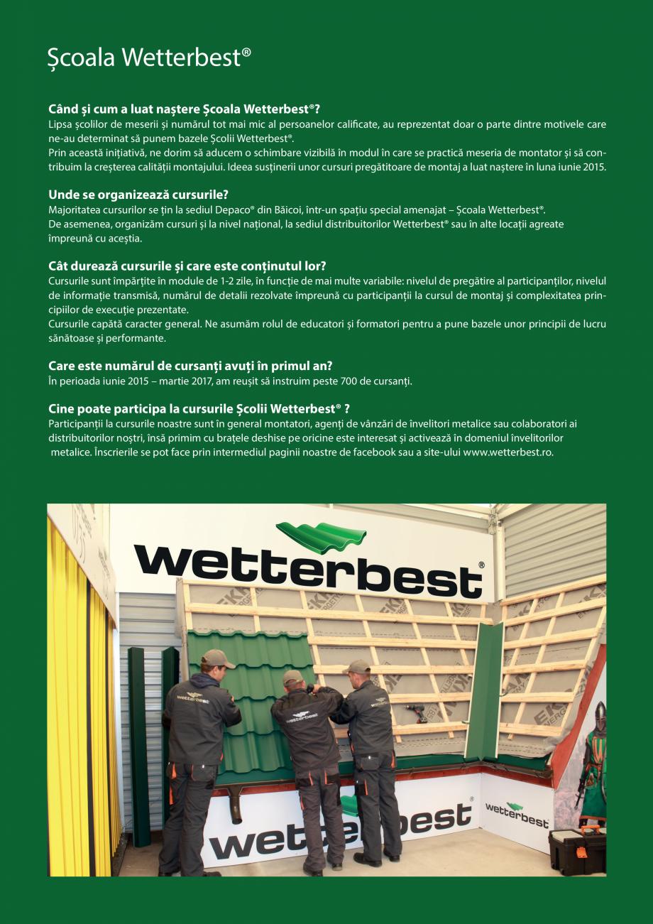 Pagina 2 - Catalog de produse Wetterbest Gladiator, Colloseum, Plus, Clasic, Wind Catalog, brosura...