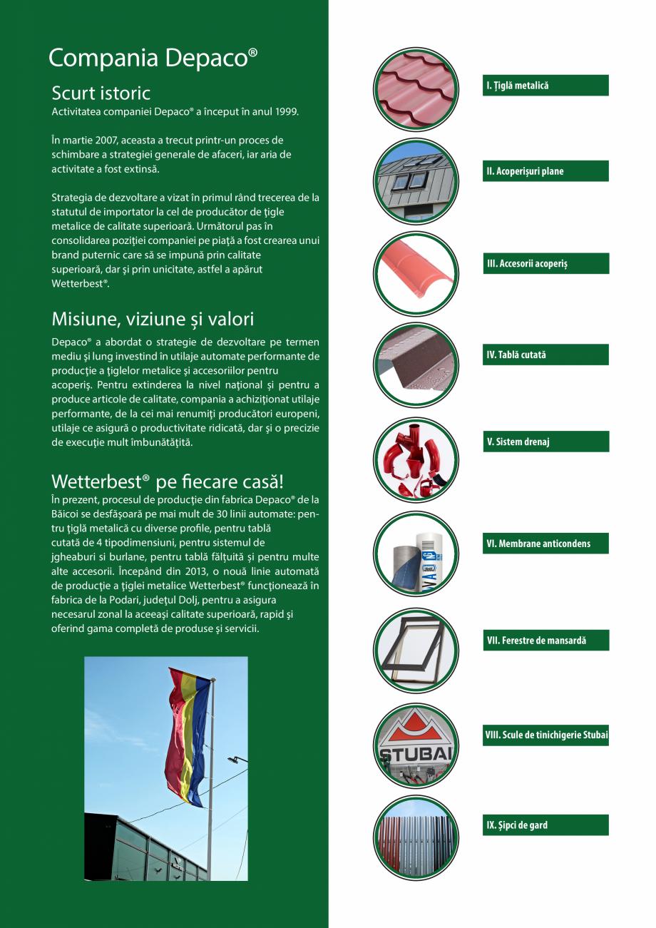Pagina 3 - Catalog de produse Wetterbest Gladiator, Colloseum, Plus, Clasic, Wind Catalog, brosura...