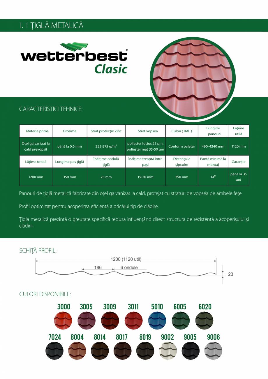 Pagina 4 - Catalog de produse Wetterbest Gladiator, Colloseum, Plus, Clasic, Wind Catalog, brosura...