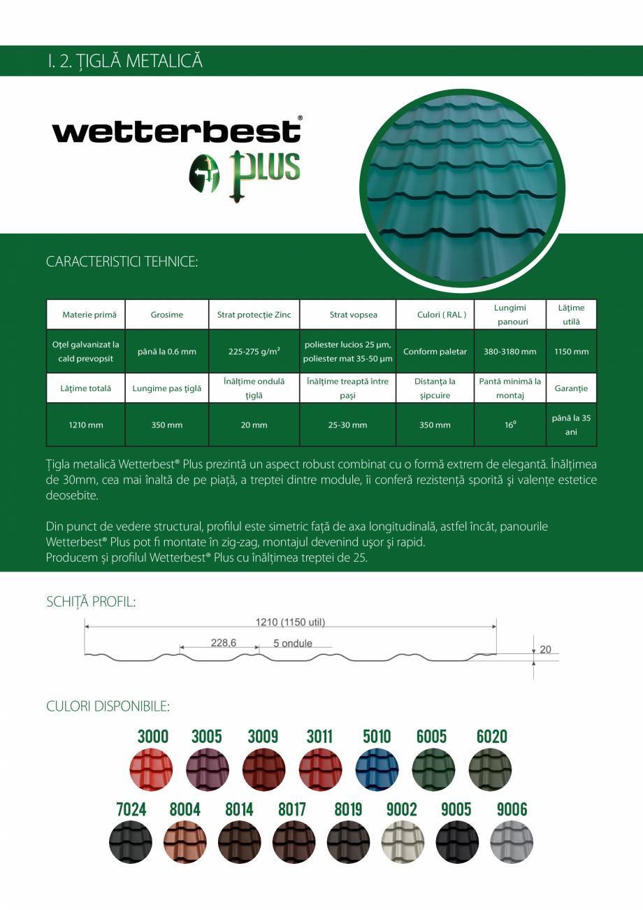 Pagina 5 - Catalog de produse Wetterbest Gladiator, Colloseum, Plus, Clasic, Wind Catalog, brosura...